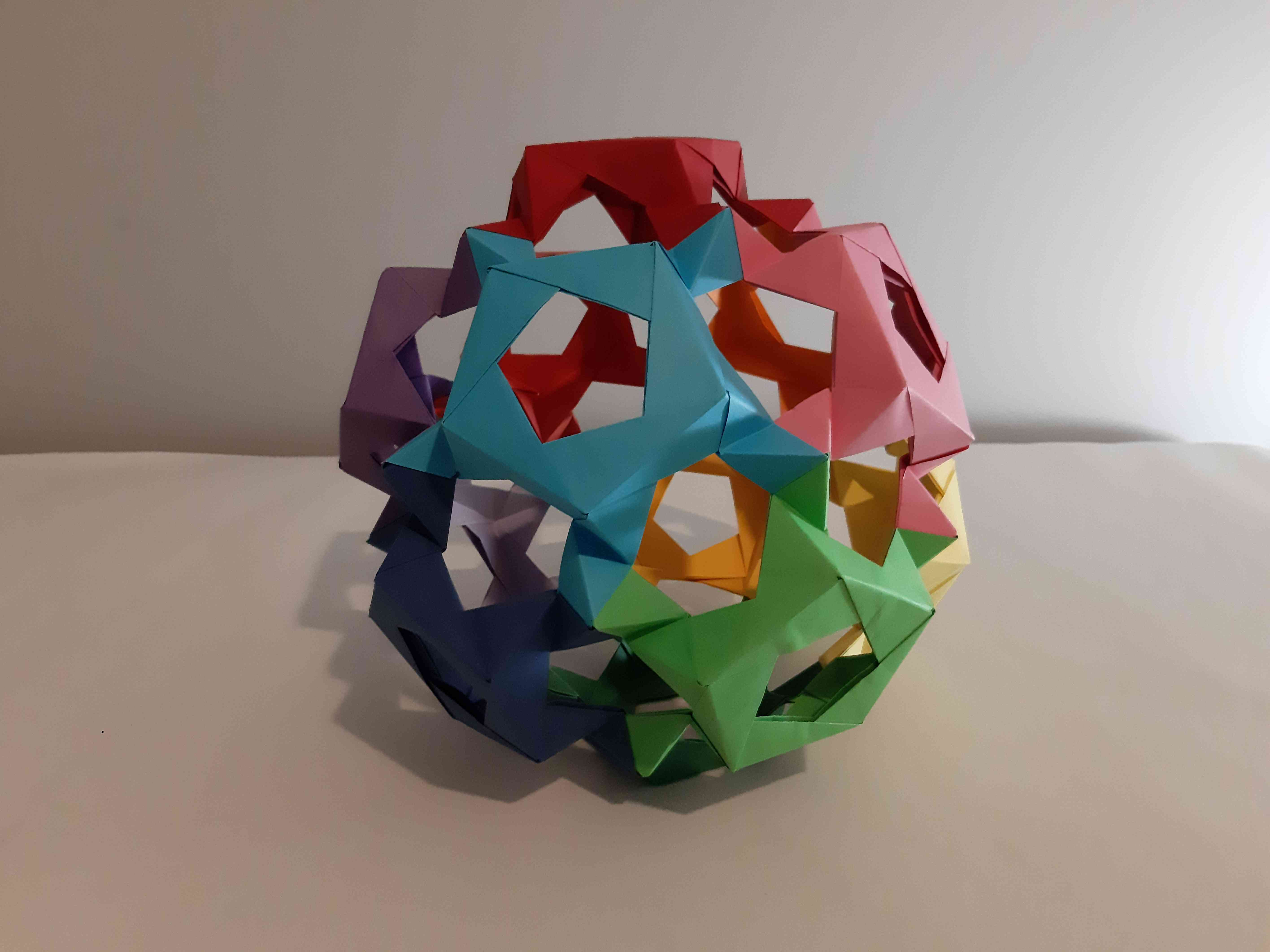 Origami Dodecahedron (easy - modular) - YouTube | 4248x5664